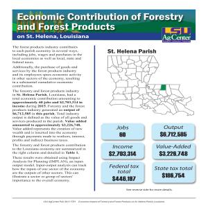 Economic Contributions of Forestry and Forest Products on St. Helena Parish, Louisiana