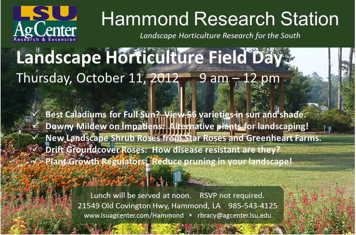 Landscape Horticulture Field Day