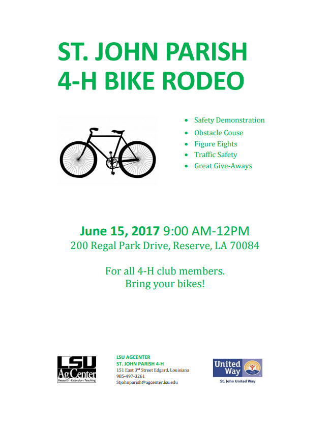 St. John Parish 4-H Bike Rodeo