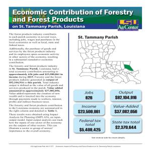 Economic Contributions of Forestry and Forest Products on St. Tammany Parish, Louisiana