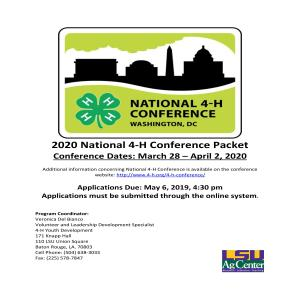 National 4-H Conference