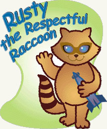 Rusty the Respectful Raccoon