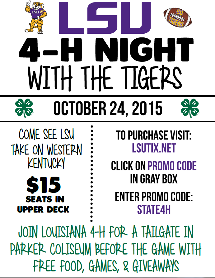 4-H Night with the Tigers