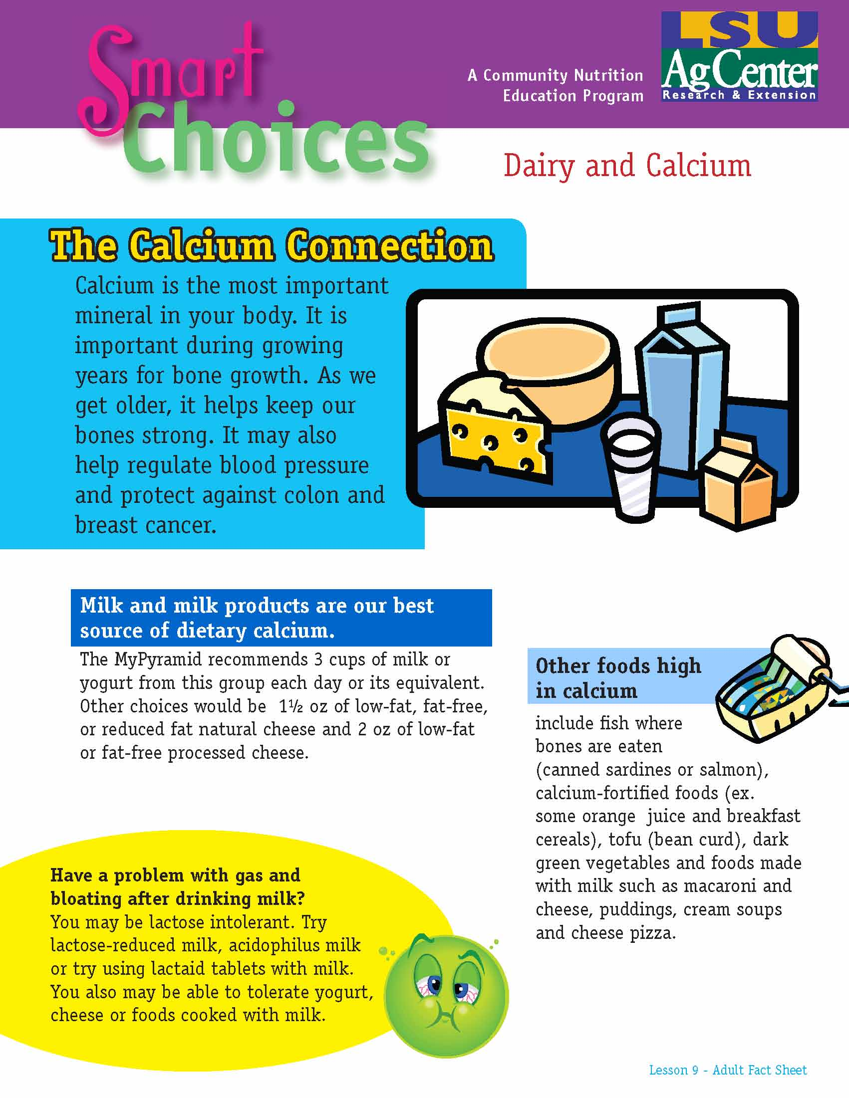 Smart Choices:  The Calcium Connection