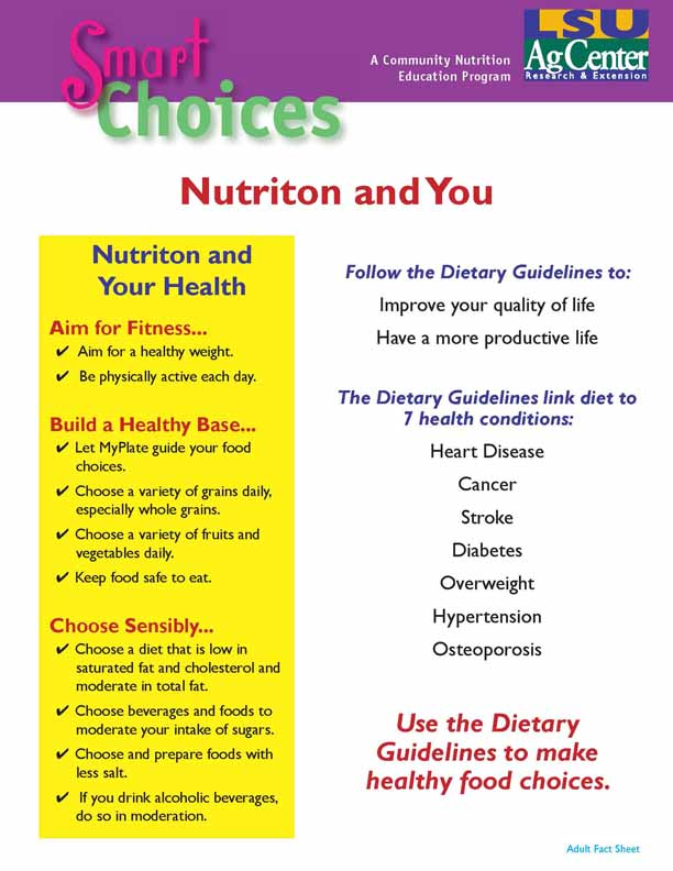 Smart Choices: Nutriton and You