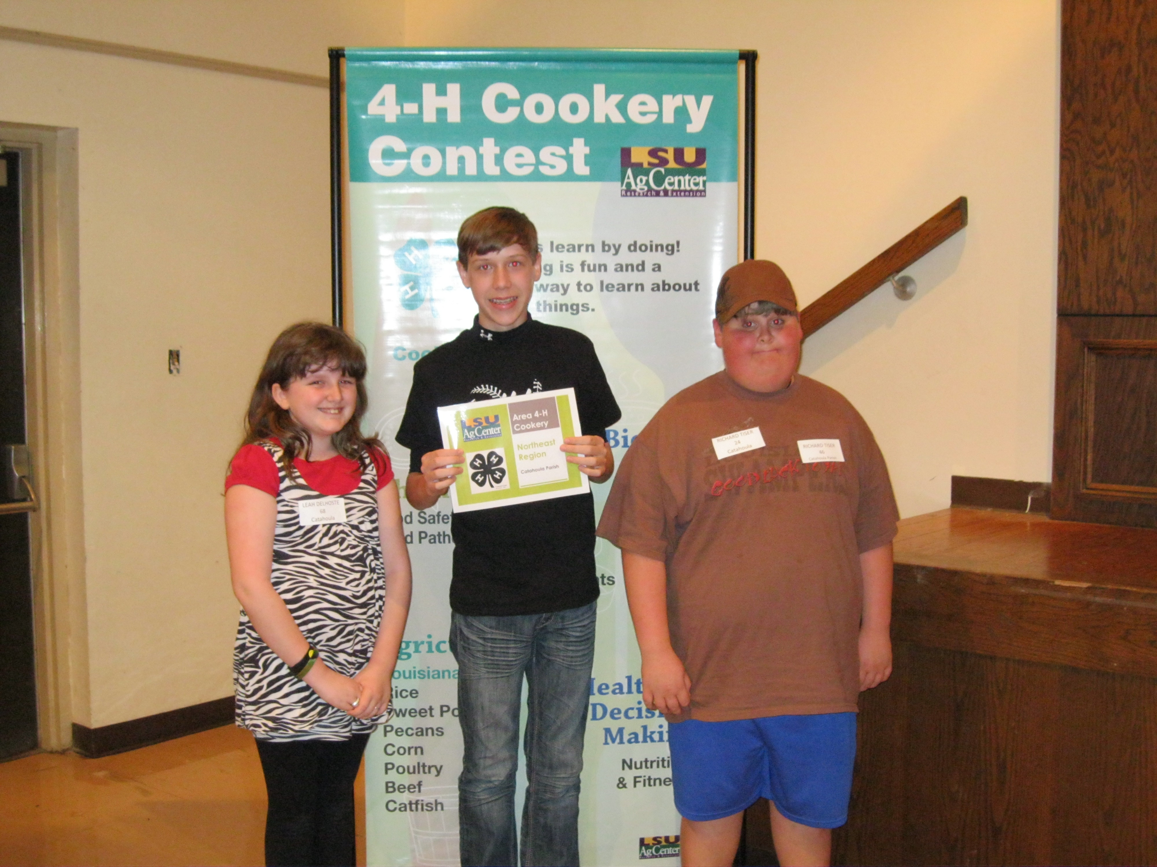 Catahoula Area cookery winners