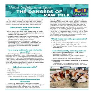 Food Safety and You: The Dangers of Raw Milk