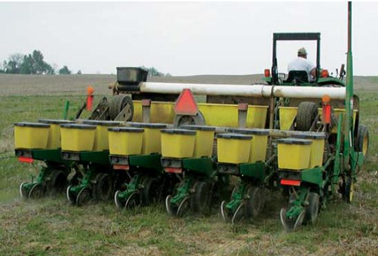 Six-row conservation tillage planter.