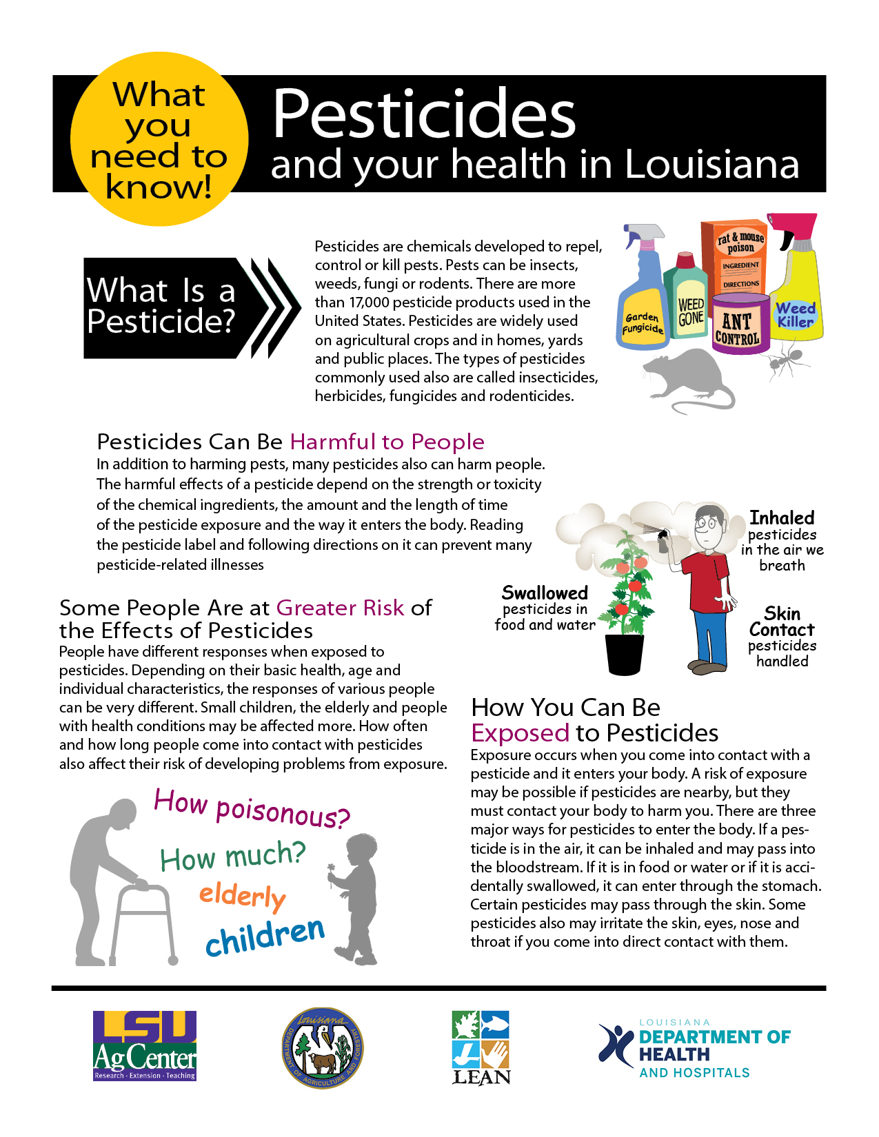 Pesticides and Your Health in Louisiana