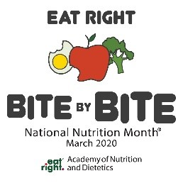 Eat Right Bite by Bite National Nutrition Month March 2020 Logo