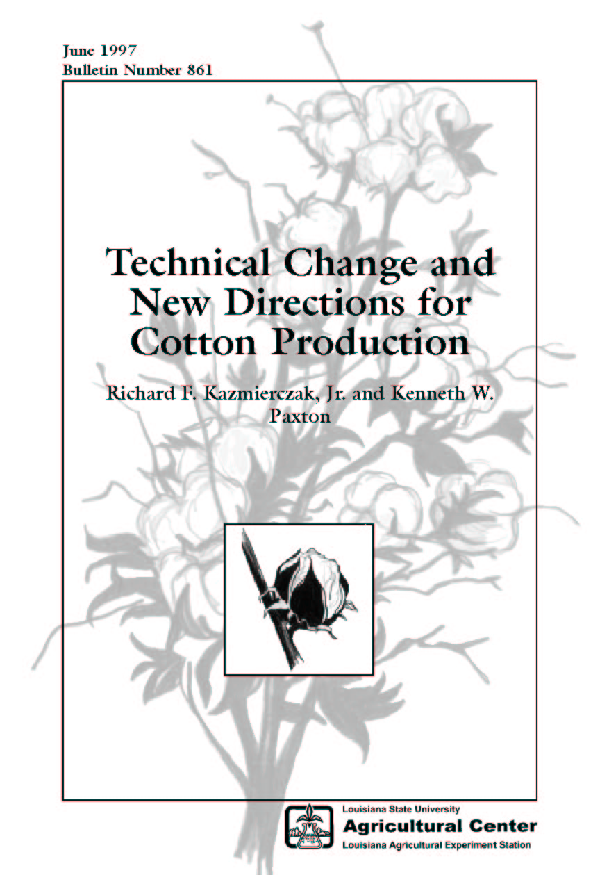 Technical Change and New Directions for Cotton Production (1997)
