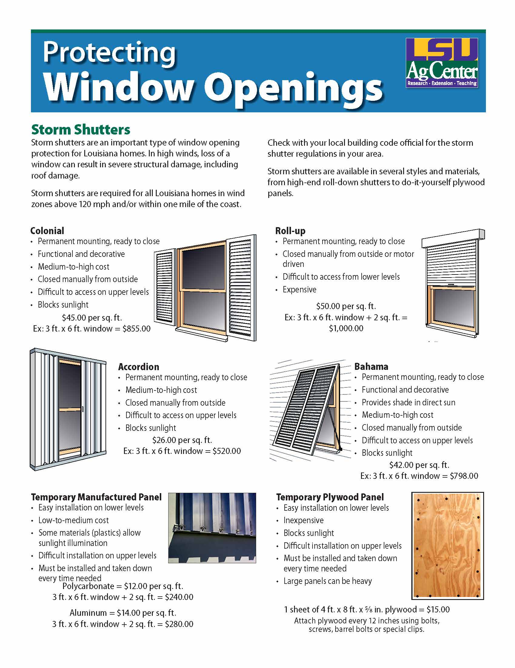 Protecting Window Openings