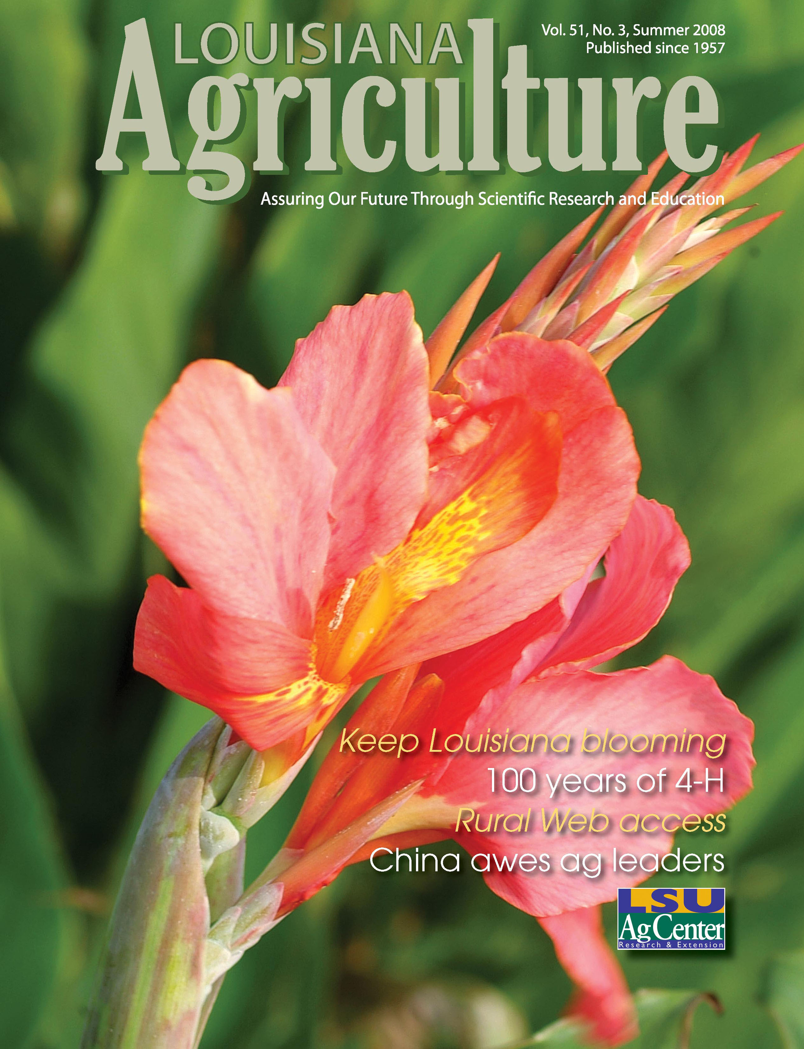 Louisiana Agriculture Magazine Summer 2008