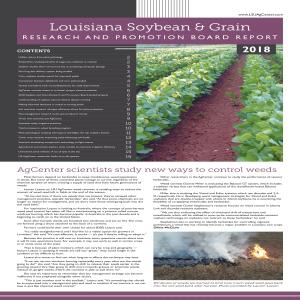 2018 Louisiana Soybean & Grain Research and Promotion Board Report