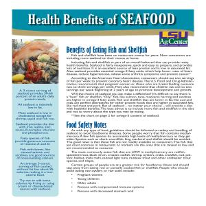 Benefits of Eating Fish and Shellfish