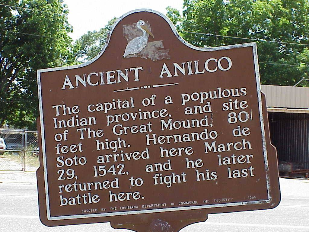 A picture of the historical Ancient  Anilco marker in Jonesville.