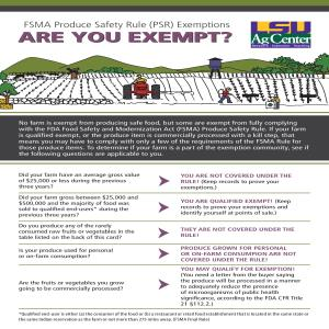 FSMA Produce Safety Rule (PSR) Exemptions: Are You Exempt?