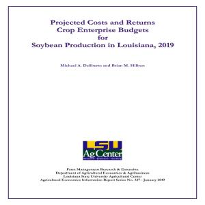 Soybean Enterprise Budgets, 2019
