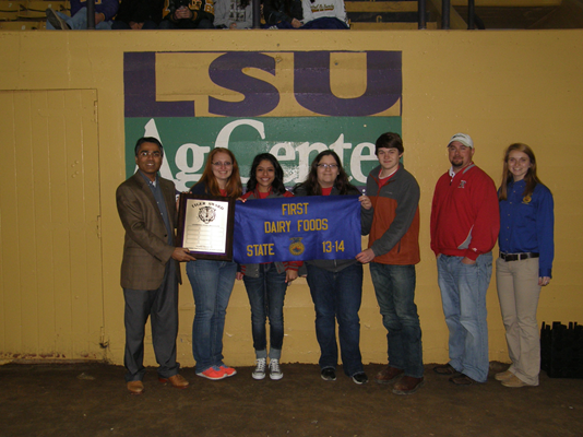 Ruston High School students win the Tiger Award in Dairy Foods