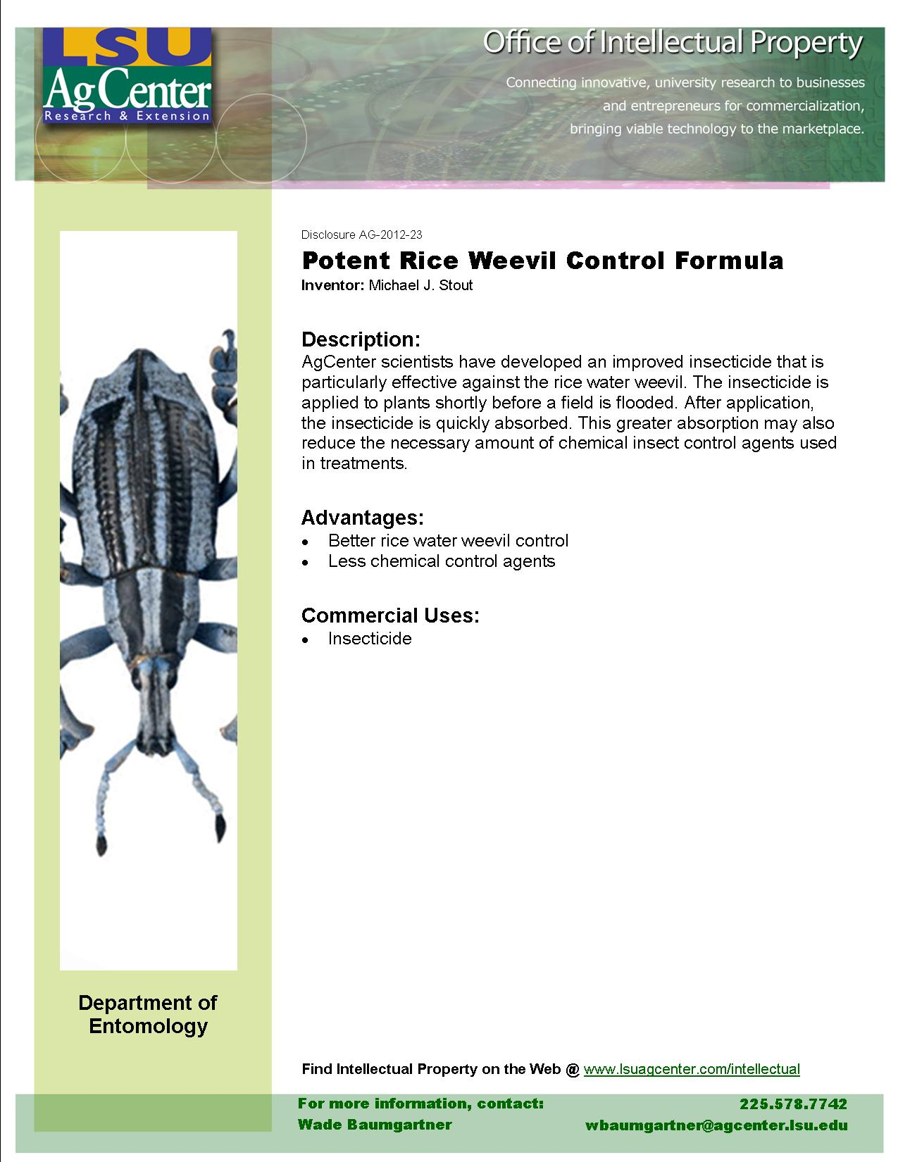 Potent Rice Weevil Control Formula