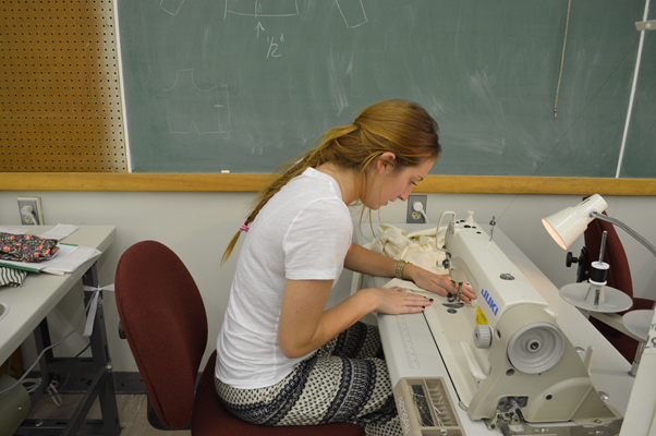 Sewing with industrial machines