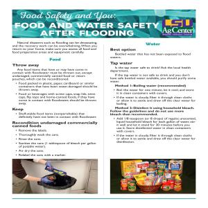 Food and Water Safety after Flooding