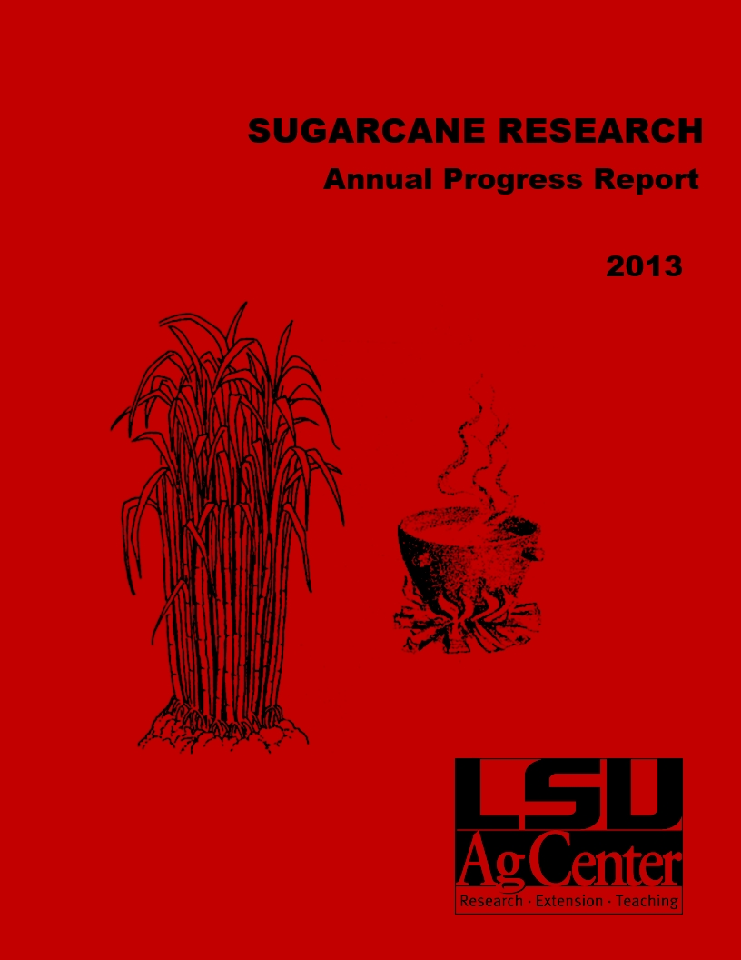 2013 Sugarcane Annual Progress Report