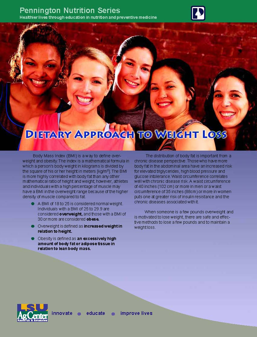 Dietary Approach to Weight Loss