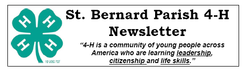 St. Bernard Parish 4-H Newsletter