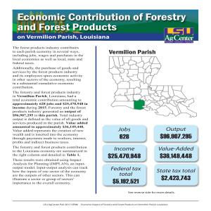 Economic Contributions of Forestry and Forest Products on Vermilion Parish, Louisiana