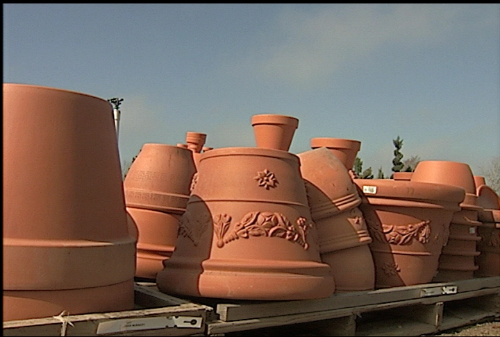 Terra cotta pots are attractive and durable in landscapes