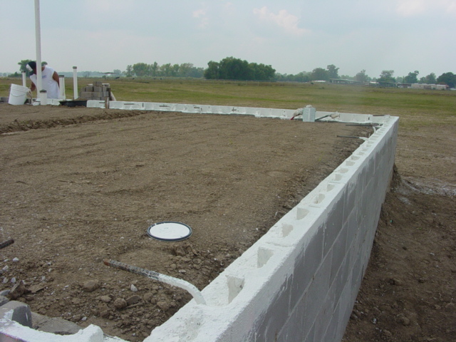 raised slab foundation for the house