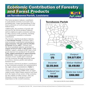 Economic Contributions of Forestry and Forest Products on Terrebonne Parish, Louisiana