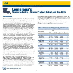 Louisiana's Timber Industry—Timber Product Output and Use