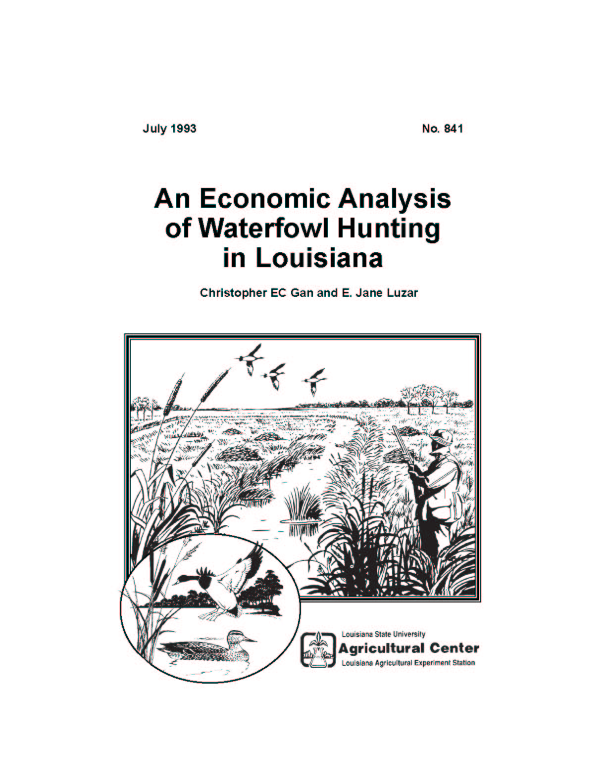An Economic Analysis of Waterfowl Hunting in Louisiana (July 1993)