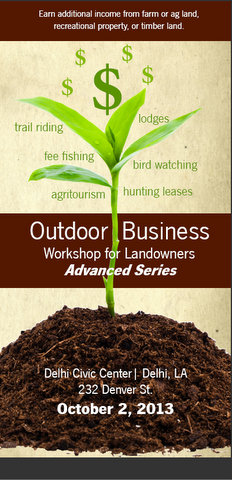 Outdoor Business Workshop for Landowners in Delhi October 2 2013