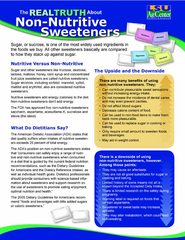 The Real Truth About Non-Nutritive Sweeteners