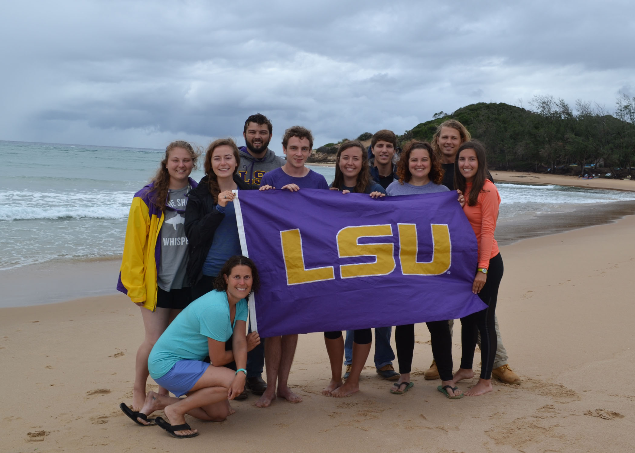 LSU students participate in marine research in Mozambique