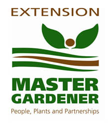 Extension Master Gardener logo. People, plants and partnerships.