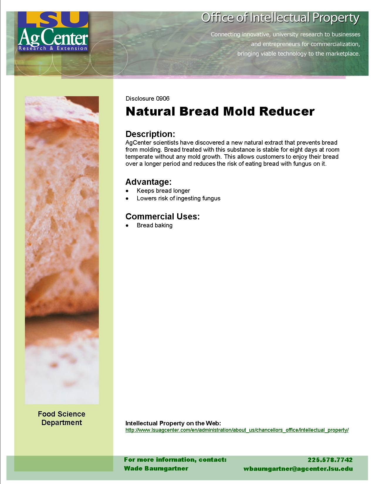 Natural Bread Mold-reducing Agent