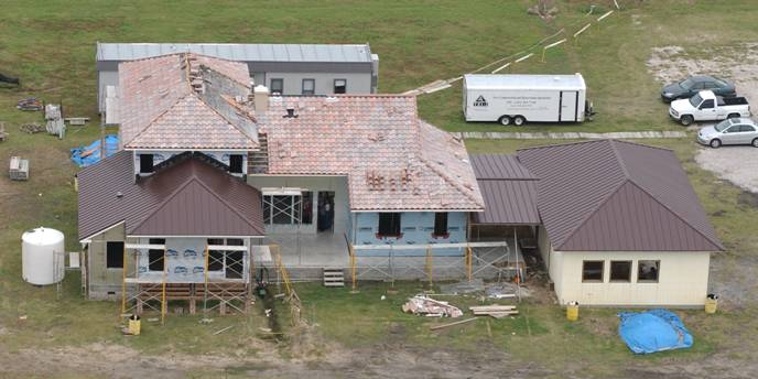 Photo of aerial rear view of LaHouse
