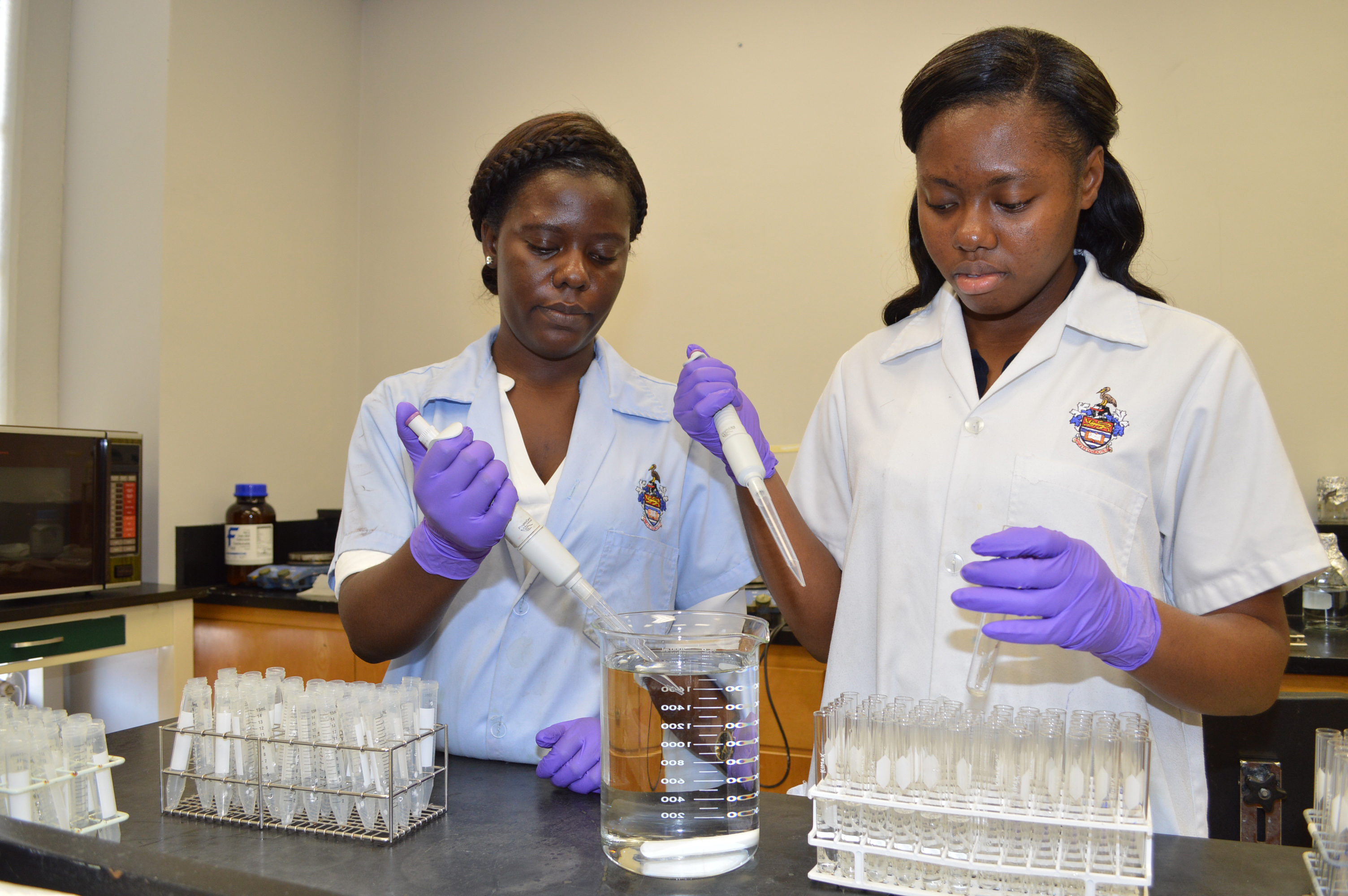 Jamaican students conduct food science research at LSU