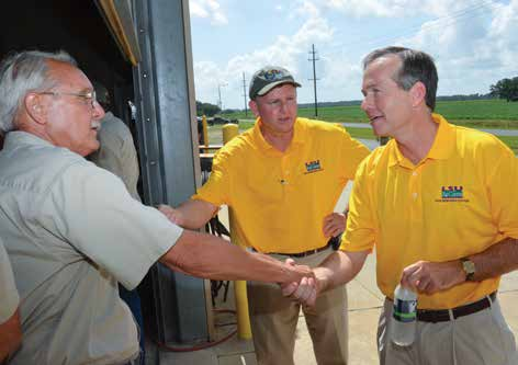 New LSU president visits Rice Station