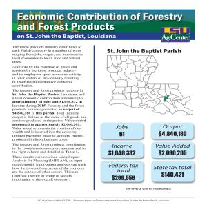 Economic Contributions of Forestry and Forest Products on St. John the Baptist Parish, Louisiana