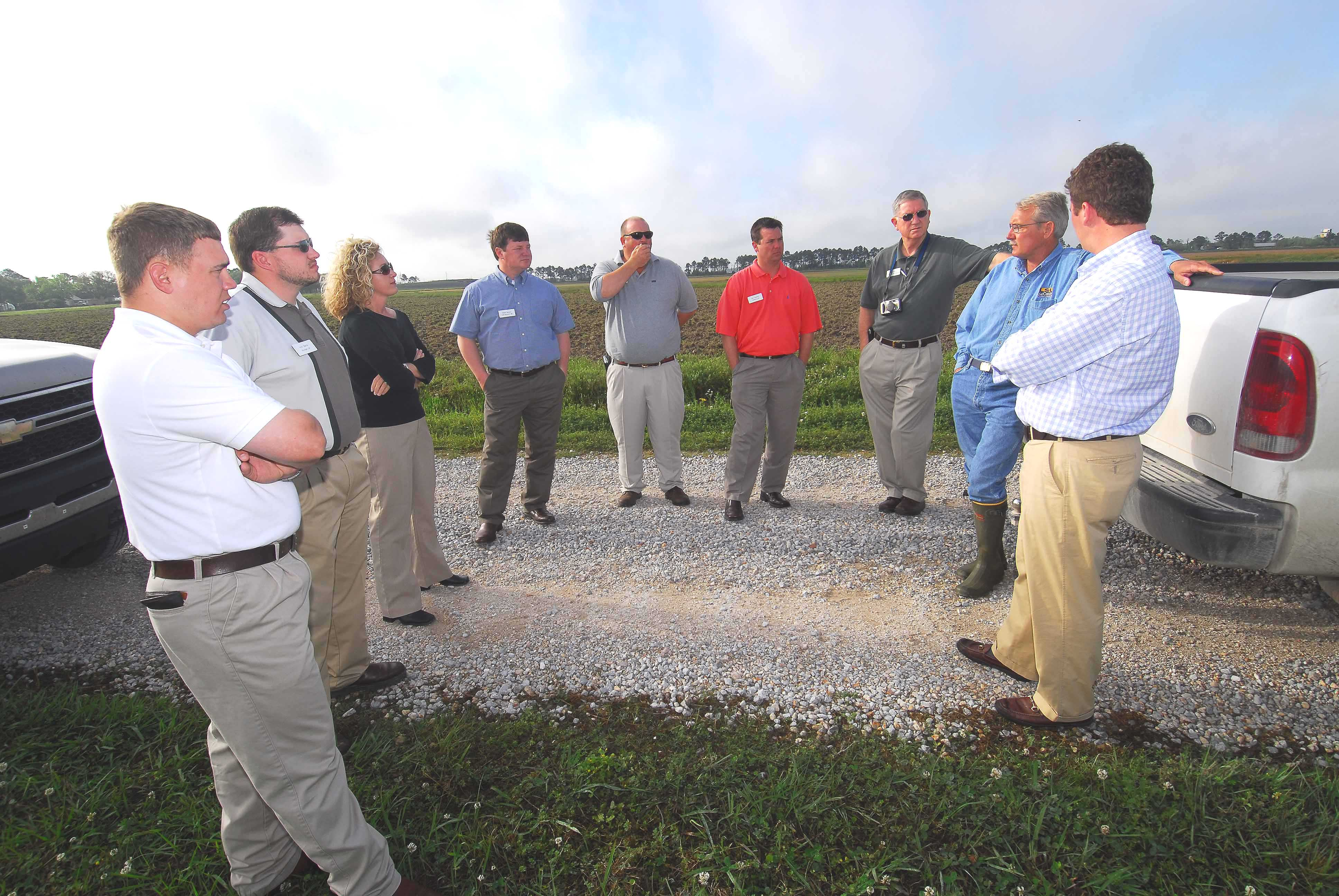 USA Rice leadership class tours LSU AgCenter Rice Research Station