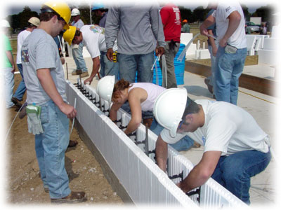LSU Students help build LaHouse