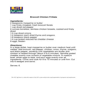 Broccoli Chicken Frittata