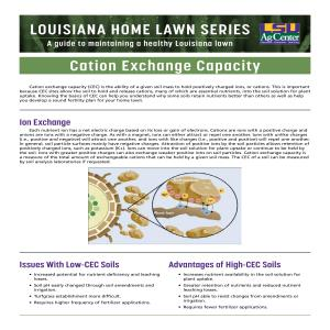 Louisiana Home Lawn Series: Cation Exchange Capacity