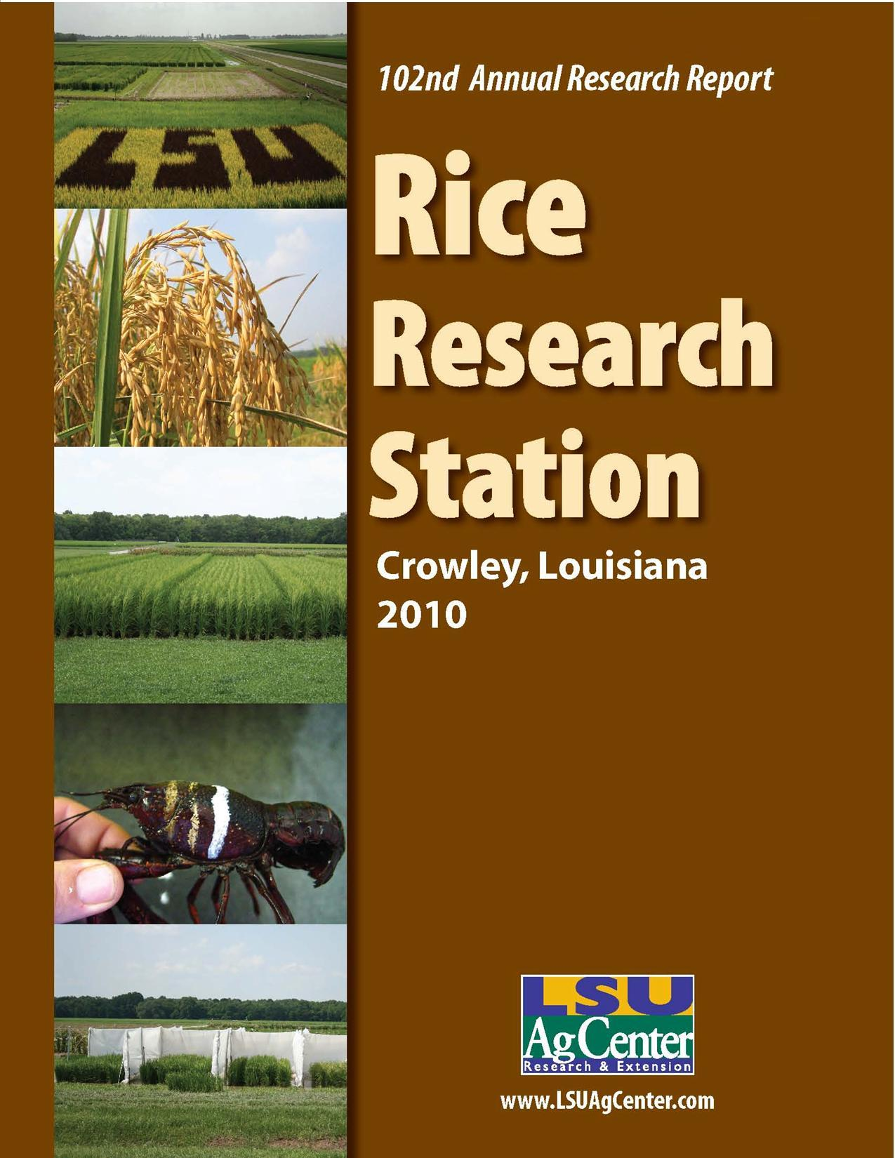 2010 Rice Research Station Annual Report