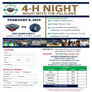 4-H Night With the Pelicans